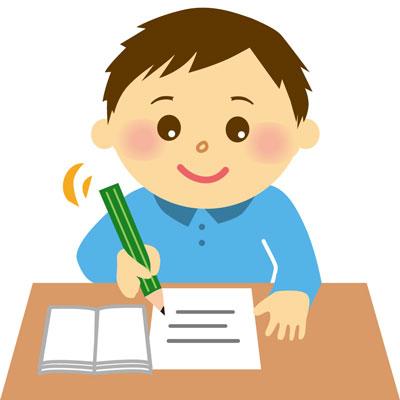 塾で勉強する子供